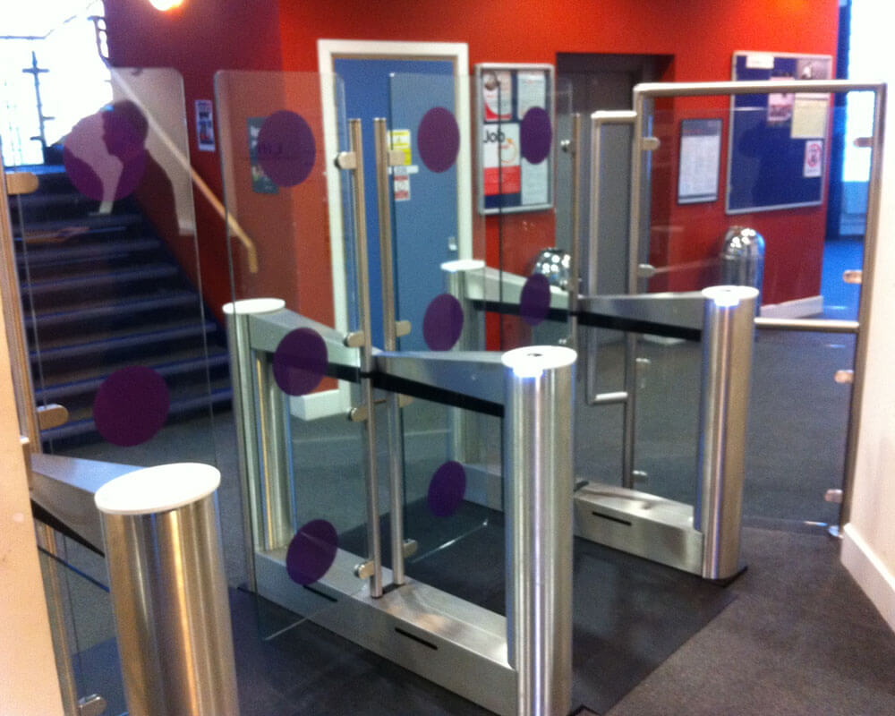 Glass Stainless Steel Speedgates Security Entrance