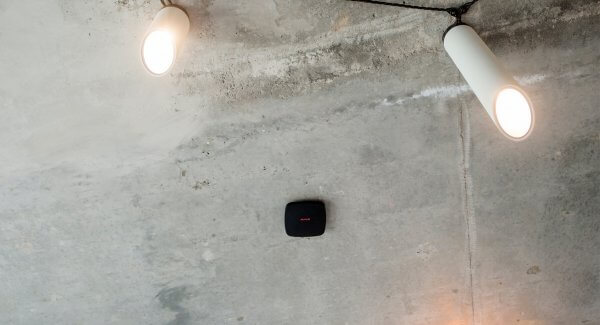 AJAX Wireless Fire Detector on Apartment Ceiling